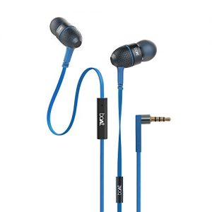 boat bassheads 225 special edition in ear headphones with mic blue