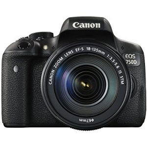 canon eos 750d 242mp digital slr camera black with body only memory card 2