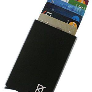 dein kleider minimalist design anti theft rfid metal card wallet black