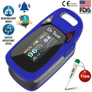 dr trust usa professional series finger tip pulse oximeter with audio