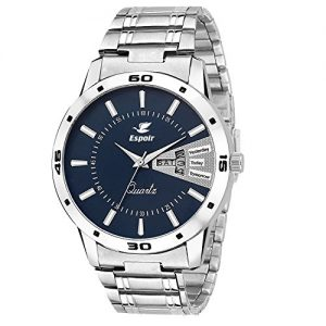 espoir mens esp12457 analog blue dial watch