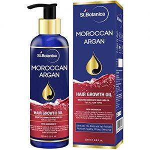 stbotanica moroccan argan hair growth oil with pure argan jojoba almond