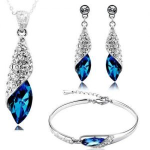 youbella fashion jewellery combo of crystal fancy party wear necklace set