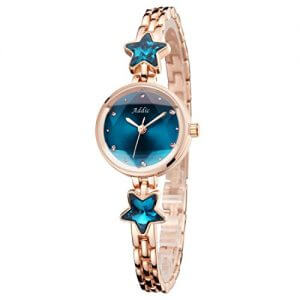 addic heritage charm analogue blue rose gold girls womens watch ww468a