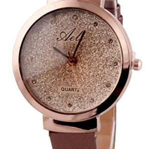 aelo analog rose gold dial girls watch www1026