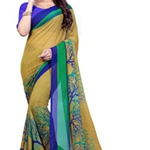 anand sarees georgette saree with blouse piece 1341multicolorfree size