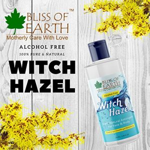 bliss of earth alcohol free witch hazel astringent 100ml 100 pure