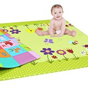 domenico fantasy india double sided water proof baby mat for kidscolor and
