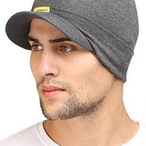 fabseasons cotton unisex skull cap charcoal grey