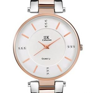 iik collection watches analogue silver dial girls womens analogue watch