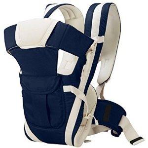 john richard adjustable hands free 4 in 1 baby carrier bag navy blue
