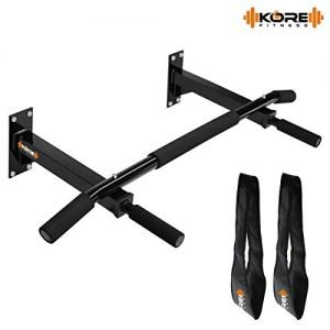 kore k wm wall mounting chin up bar with solid one piece construction bar and