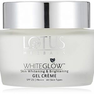 lotus herbals whiteglow skin whitening and brightening gel cream spf 25 60g