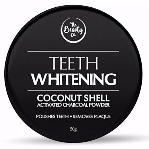 the beauty co coconut shell activated charcoal instant teeth whitening