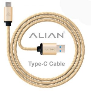alian type c cable nylon braided 1 meter with quick charging 30 amp
