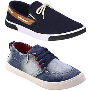 birde mens combo pack of 2 casual shoes loafers sneakers