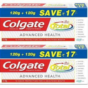colgate total advance health toothpaste 240 g pack of 2