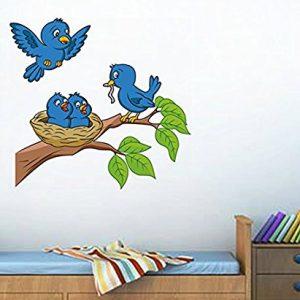 decals design birds feeding wall sticker pvc vinyl 70 cm x 50 cm