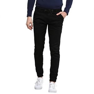 urbano fashion mens slim fit jeans jog hps black 32 fba