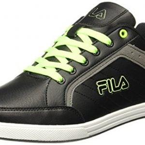 fila mens dustin blacklimegrey sneakers 9 ukindia 43 eu11005406