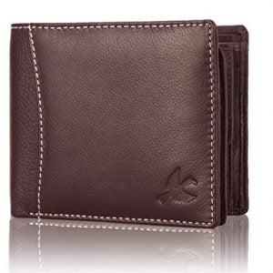 hornbull mens brown themes leather rfid blocking wallet