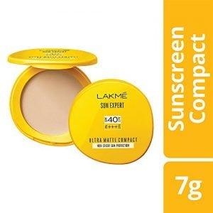 lakme sun expert ultra matte spf 40 pa compact 7g