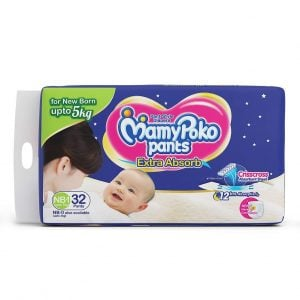 mamypoko extra absorb pants for 3 to 5kg of new born 1 size pack of 32
