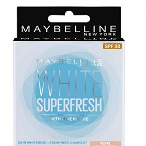 maybelline new york white super fresh compact pearl 8g