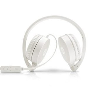 hp h2800 headset stereo headset with mic white