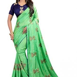 shiroya brothers womens silk saree with blouse piece green
