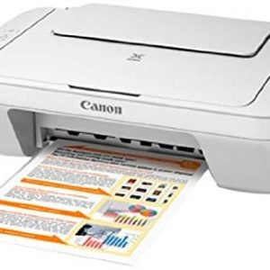 canon mg2570 colour multifunction inkjet printer white