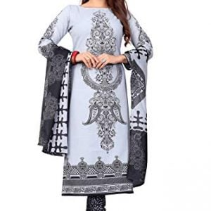 crazy womens cotton unstitched salwar suits material modal102 grey free