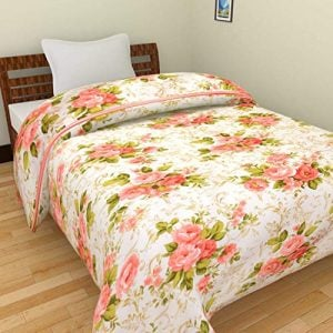 jaipurcrafts 220 tc flowers print reversible poly cotton ac