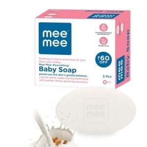 mee mee nourishing baby soap with almond milk extracts 75g pack of 3