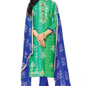 monika silk mill womens silk cotton salwar suit greenfree size