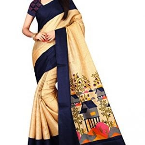 om sai latest creation cotton saree with blouse piece house s1884navy
