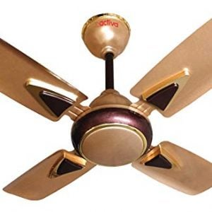 activa galaxy 1 4 blades 600mm ceiling fan golden beige