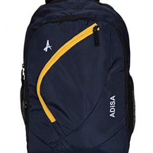 adisa bp004 navy blue light weight 31 ltrs casual laptop backpack