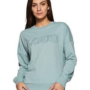 amazon brand symbol womens sweatshirt aw18wnssw16cblue hazex large