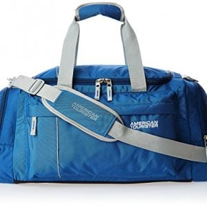 american tourister nylon 55 cms blue travel duffle 40x 0 01 008
