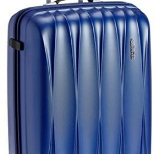 american tourister polycarbonate 68 cms midnight blue hardsided suitcase 38w