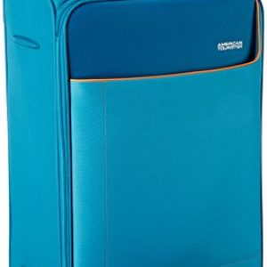 american tourister polyester 80 cms turquoise softsided check in luggage amt