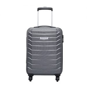 aristocrat juke polycarbonate 555 cms grey hard sided carry on juke55tmgp