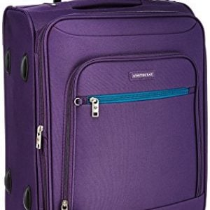 aristocrat nile polyester 54 cms purple soft sided carry on stnilw54ppl