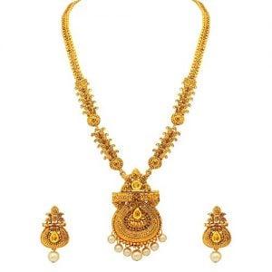 atasi international gold plated jewellery set for women goldenag1842