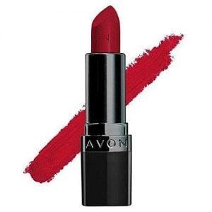 avon true color perfectly matte lipstick red supreme 4g