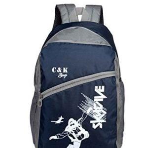 chris kate polyester 26 ltr blue school backpack