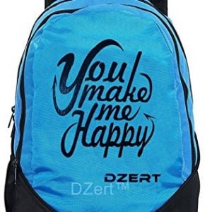 dzert polyester 30 ltr blue school backpack