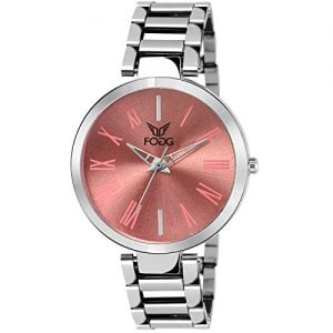 fogg analog pink dial womens watch 4049 pk