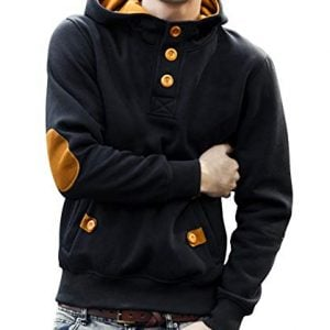 seven rocks cotton mens hoodie sweatshirt jacket l sw4 blmt black mustard